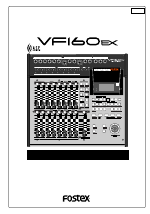 pdf download fostex vf160ex user manual 158 pages rh manualsdir com Fostex VF160EX Forum VF160 Fostex Multitracker Carrying Case