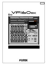 pdf download fostex vf160ex user manual 158 pages rh manualsdir com Fostex Multitracker 160 Fostex Support