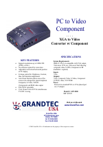 Grandtec usa pc connect computer to tv video component gxp-2000.