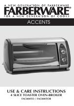 Farberware 4 Slice Toaster Oven Broiler Fac800tob Manuals
