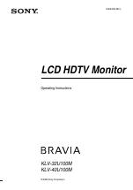 sony klv 40u100m manuals rh manualsdir com Sony BRAVIA ManualDownload Sony Bravia TV User Manual