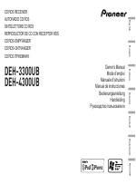pioneer deh 3300ub инструкция на русском