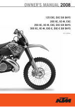 ktm 125 exc e six days user manual 74 pages also for 125 exc rh manualsdir com 2008 ktm 300 xc service manual 2008 KTM 300 XC- W Specs
