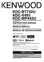 kenwood kdc bt742u user manual