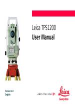 leica tps1200 user manual 226 pages rh manualsdir com leica tps1200 field applications manual leica tps1200 manuel
