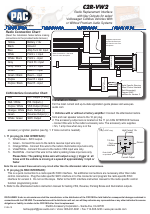PAC C2R-VW2 User Manual | 1 page