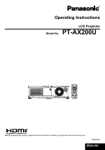 pdf download panasonic pt ax200u user manual 54 pages rh manualsdir com panasonic pt-ax200u manual Panasonic Technical Support
