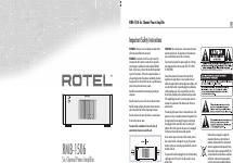 rotel 2 channel power amplifier rb 1510 manuals rh manualsdir com