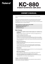 pdf download roland kc 880 user manual 20 pages rh manualsdir com Roland KC- 550 Roland KC- 550