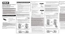 pdf download rca rcr312wr user manual 2 pages also for rh manualsdir com RCA RCR312WR Universal Remote Manual RCA Universal Remote Codes RCR312WR