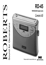 roberts radio gemini 45 rd 45 user manual 24 pages rh manualsdir com