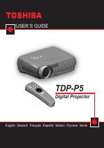 toshiba tdp p5 user manual 44 pages rh manualsdir com Toshiba E Studio 203SD Manual Toshiba Remote Manuals
