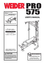 Weider pro 575 manuals 28 images weider pro 575 english manual.