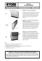york fan coil yvf yvs manuals. Black Bedroom Furniture Sets. Home Design Ideas