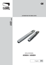 Pdf Download Came Axo S524 Kit User Manual 18 Pages