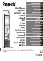 panasonic rr us510 manuals rh manualsdir com Panasonic Technical Support manual grabadora panasonic rr-us511