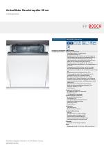 Bosch SMV41D00EU SilencePlus ActiveWater Geschirrspüler 60 Cm  Vollintegrierbar ...