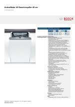 Elegant Bosch SPV69T20EU Super Silence ActiveWater 45 Geschirrspüler 45 Cm  Vollintegrierbar ...