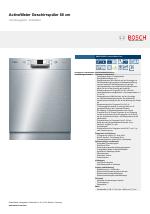 Bosch Smu53n55eu Active Water Eco Activewater Geschirrspuler 60 Cm