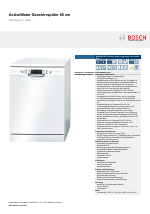 Bosch Sms86n72de Exclusiv Made In Germany Active Water Eco