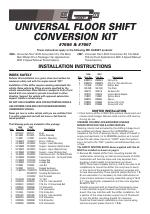 Mr  Gasket 7666 Floor Shifter Conversion: 3-Speed manuals