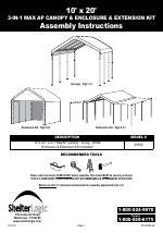 ShelterLogic ...  sc 1 st  ManualsDir.com & ShelterLogic 23532 10 x 20 Max AP Canopy 3-in-1 Pack manuals