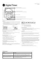Ge 15430 Digital Timer User Manual 2 Pages