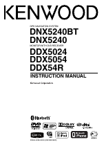 pdf download kenwood dnx5240bt user manual 96 pages also for rh manualsdir com