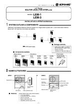 aiphone lem 1 manuals rh manualsdir com Aiphone Intercom Parts Aiphone Intercom Parts