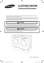 samsung dv331aew xaa manuals rh manualsdir com Samsung Steam Dryer Manual Samsung Dryer DV350AEW XAA Manual
