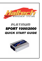 Haltech Platinum Sport 1000 User Manual | 20 pages | Also ... on