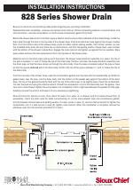 sioux chief 828 shower drain manuals