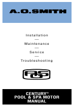 A.O. Smith Century Pool & Spa Motor User Manual | 59 pages on