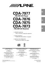 alpine cda 7875 user manual 36 pages also for cda 7873 cda 7977 rh manualsdir com alpine cda-7873 manual alpine cda-7873 manual