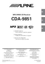 pdf download alpine cda 9851 user manual 103 pages rh manualsdir com alpine cda-9851r service manual alpine cda-9851r service manual