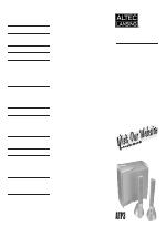pdf download altec lansing atp3 user manual 4 pages rh manualsdir com Altec Lansing Computer Speaker System altec lansing atp3 service manual