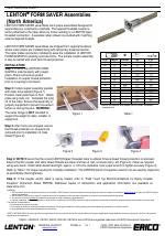 ERICO LENTON FORM SAVER Assemblies manuals