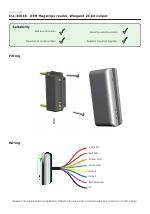 Paxton OEM Magstripe reader, Wiegand 26 bit output manuals