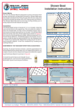 Pdf Download | Trim-Tex Shower Bead User Manual (2 pages)