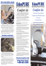 Edenpure Comfort Air User Manual 2 Pages