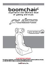 BoomChair Pulse   1st Generation BoomChair   Wireless User Manual