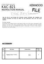 kenwood kac 821 manuals rh manualsdir com Kenwood KAC 9105D Kenwood X1000