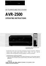 pdf download denon avr 2500 user manual 24 pages rh manualsdir com Receiver Denon Al24 Processing Plus denon avr 2500 manual pdf