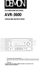 denon avr 3600 manuals rh manualsdir com Denon AVR 3600 Specs Denon AVR 3600 Review
