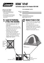 sc 1 st  ManualsDir.com & Coleman Kenai 10u0027x8u0027 User Manual | 2 pages