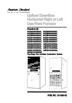 Pdf Download American Standard Freedom 80 User Manual