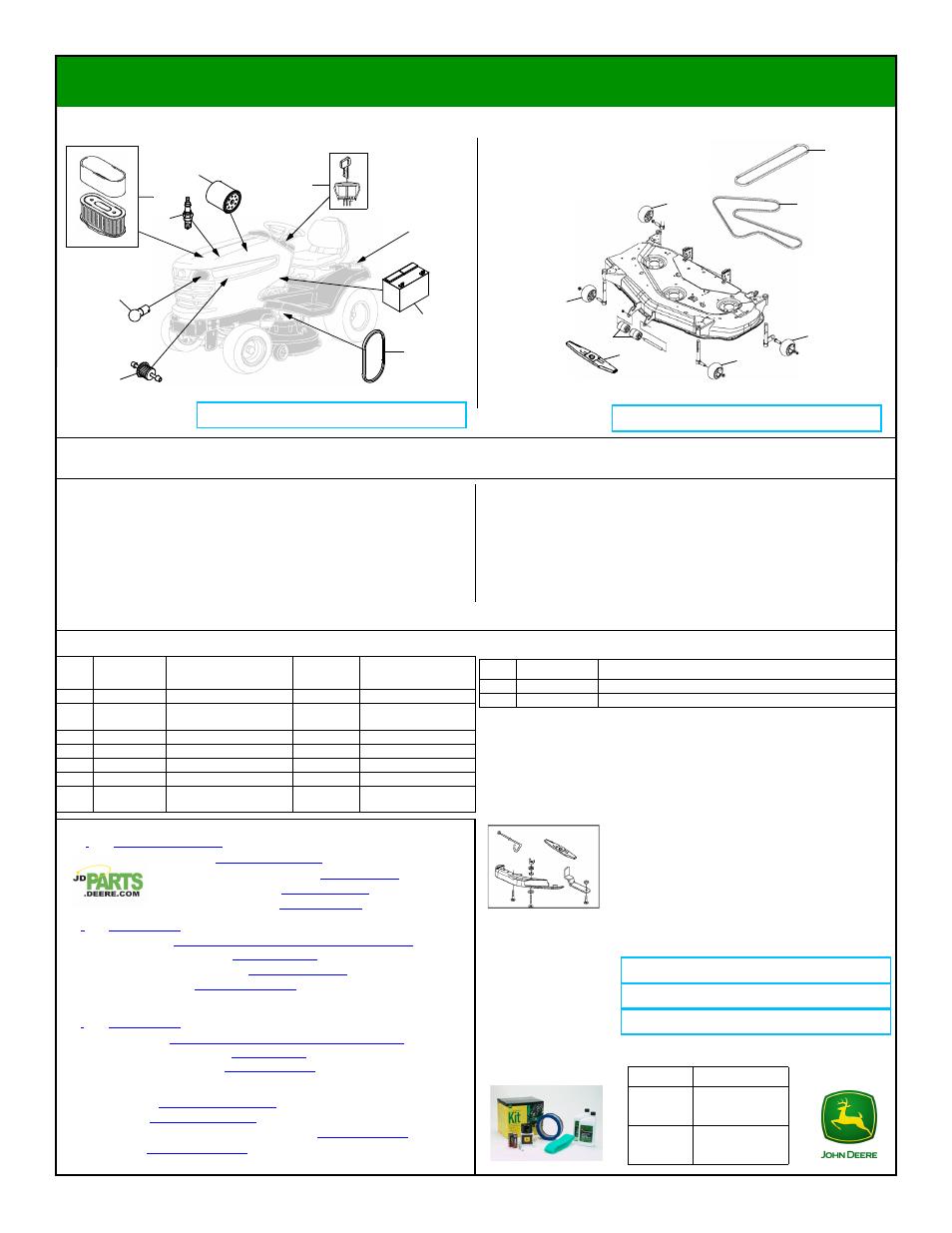 John Deere X320 Deck Belt Routing Manual Guide