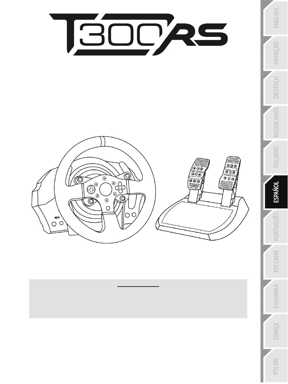 06 spa t300rs ps3 ps4 espa ol thrustmaster t300 ferrari gte user rh manualsdir com PS3 Slim Back PS3 Fuzzy Screen