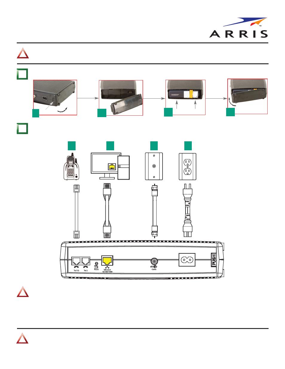 arris tm722g ct quick start guide user manual 2 pages rh manualsdir com Comcast Telephony Modem Arris TM722G Arris TM822G