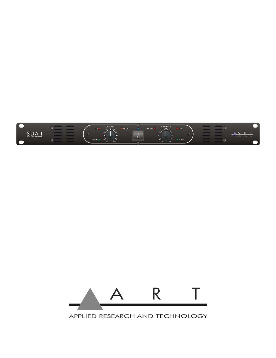 art pro audio sda1 studio digital amplifier user manual 16 pages rh manualsdir com art studio user guide Instruction Manual Example